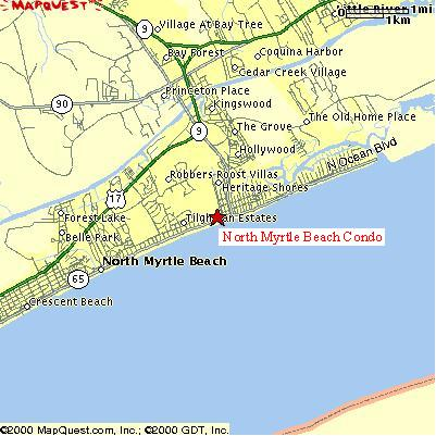 Map for Beach Condo